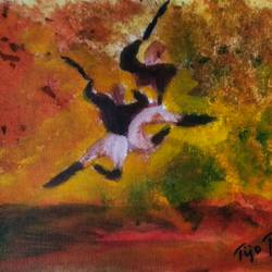 kalaripayattu, 10 x 8 inch, tijo thomas,paintings,abstract paintings,figurative paintings,folk art paintings,modern art paintings,conceptual paintings,abstract expressionist paintings,expressionist paintings,contemporary paintings,paintings for dining room,paintings for living room,paintings for bedroom,paintings for office,paintings for kids room,paintings for hotel,paintings for school,paintings for hospital,canvas,acrylic color,fabric,10x8inch,GAL01171321931