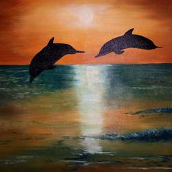 dolphins , 24 x 30 inch, vijay pratap,paintings,landscape paintings,modern art paintings,nature paintings,realism paintings,contemporary paintings,realistic paintings,love paintings,paintings for living room,paintings for bedroom,paintings for hotel,paintings for hospital,canvas,acrylic color,24x30inch,GAL0443621946heart,family,caring,happiness,forever,happy,trust,passion,romance,sweet,kiss,love,hugs,warm,fun,kisses,joy,friendship,marriage,chocolate,husband,wife,forever,caring,couple,sweetheartNature,environment,Beauty,scenery,greenery