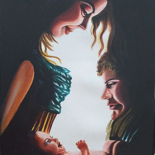 parenting love, 16 x 20 inch, sandhya kumari,paintings,figurative paintings,realistic paintings,love paintings,baby paintings,children paintings,kids paintings,paintings for dining room,paintings for living room,paintings for bedroom,paintings for office,paintings for kids room,paintings for hotel,paintings for kitchen,paintings for school,paintings for hospital,canvas,acrylic color,16x20inch,GAL0365921950heart,family,caring,happiness,forever,happy,trust,passion,romance,sweet,kiss,love,hugs,warm,fun,kisses,joy,friendship,marriage,chocolate,husband,wife,forever,caring,couple,sweetheart
