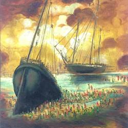 ships, 22 x 26 inch, balbir art  gallery,paintings,landscape paintings,canvas,oil,22x26inch,GAL01076521957