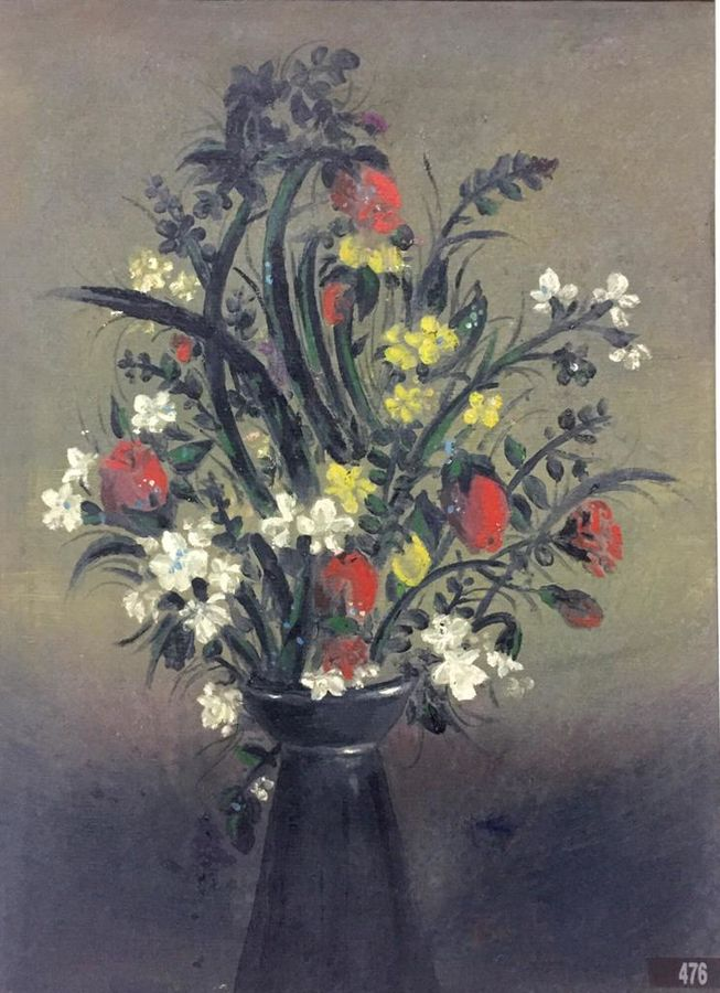 flower vase, 22 x 26 inch, balbir art  gallery,paintings,flower paintings,canvas,oil,22x26inch,GAL01076521961