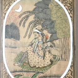 mughal painting, 9 x 11 inch, balbir art  gallery,paintings,miniature painting.,canvas,oil,poster color,9x11inch,GAL01076521973