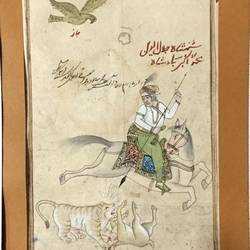 elephant horse tiger fight, 12 x 25 inch, balbir art  gallery,paintings,figurative paintings,miniature painting.,thick paper,natural color,pen color,pencil color,ball point pen,12x25inch,GAL01076521977