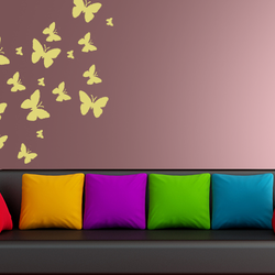 wall stencil: beautiful butterfly design wall stencil for home decor  , 1 stencil (size 12x12 inches) | reusable | diy, 12 x 12 inch, wall stencil designs,12x12inch,ohp plastic sheets,flower designs,plastic,GAL0121981,GAL0121981