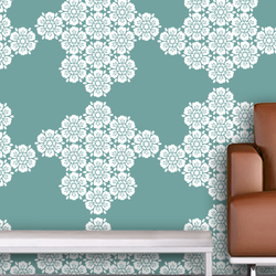 wall stencil: exclusive royal design wall stencil , 1 stencil (size 12x12 inches) | reusable | diy, 12 x 12 inch, wall stencil designs,12x12inch,ohp plastic sheets,flower designs,plastic,GAL0121989,GAL0121989