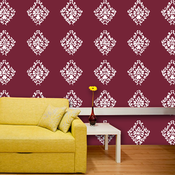 wall stencil: exclusive royal design wall stencil , 1 stencil (size 12x12 inches) | reusable | diy, 12 x 12 inch, wall stencil designs,12x12inch,ohp plastic sheets,flower designs,plastic,GAL0121991,GAL0121991