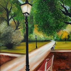 pathway, 16 x 23 inch, idris khaleel,16x23inch,canvas,paintings,nature paintings,paintings for dining room,paintings for living room,paintings for bedroom,paintings for office,paintings for kids room,paintings for hotel,oil,GAL01131722006Nature,environment,Beauty,scenery,greenery