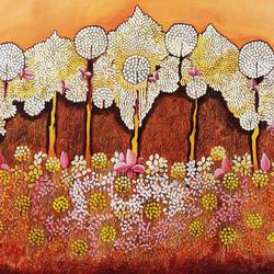 glimpse of mughal garden series -1 jannat, 36 x 30 inch, nitu chhajer,36x30inch,canvas,paintings,acrylic color,GAL058222009