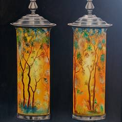 the illuminating metal lamp, 25 x 37 inch, idris khaleel,25x37inch,canvas,paintings,art deco paintings,illustration paintings,paintings for dining room,paintings for living room,paintings for bedroom,paintings for office,paintings for kids room,paintings for hotel,paintings for school,oil,GAL01131722029