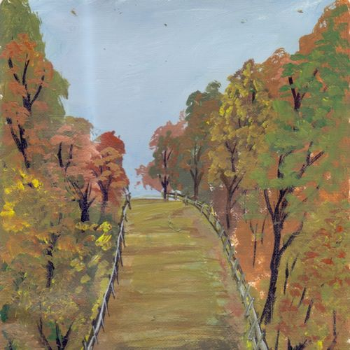 beautiful morning, 4 x 6 inch, leo d'silva,4x6inch,canvas,paintings,landscape paintings,paintings for living room,acrylic color,GAL01189122030
