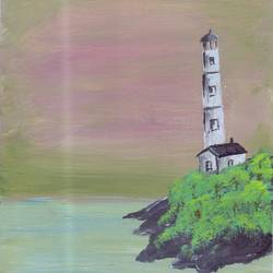 lighthouse, 4 x 6 inch, leo d'silva,4x6inch,canvas,paintings,landscape paintings,paintings for living room,acrylic color,GAL01189122031