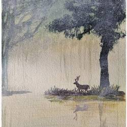 mystery forest and deer doe, 6 x 9 inch, surindar  singh,6x9inch,canvas,paintings,abstract paintings,wildlife paintings,landscape paintings,still life paintings,nature paintings,realism paintings,animal paintings,contemporary paintings,paintings for dining room,paintings for living room,paintings for bedroom,paintings for office,paintings for bathroom,paintings for kids room,paintings for hotel,paintings for kitchen,paintings for school,paintings for hospital,acrylic color,GAL0646422052Nature,environment,Beauty,scenery,greenery