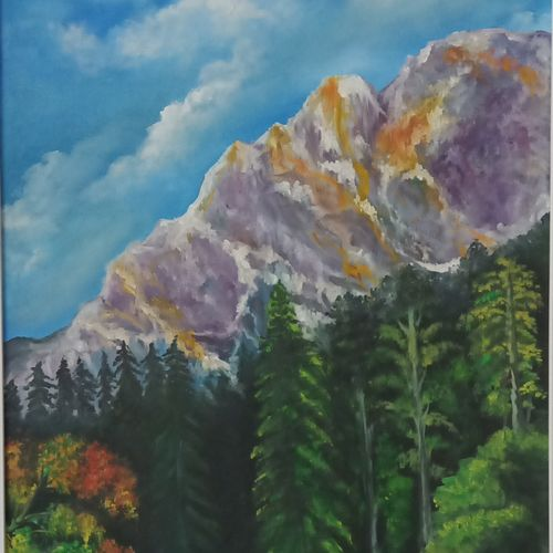 a beautiful mountain, 16 x 23 inch, idris khaleel,16x23inch,canvas,paintings,nature paintings,paintings for dining room,paintings for living room,paintings for bedroom,paintings for office,paintings for kids room,paintings for hotel,paintings for school,paintings for dining room,paintings for living room,paintings for bedroom,paintings for office,paintings for kids room,paintings for hotel,paintings for school,oil,GAL01131722077Nature,environment,Beauty,scenery,greenery