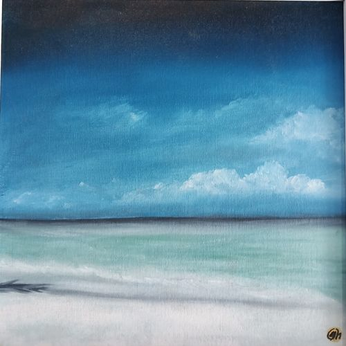 beach, 12 x 12 inch, idris khaleel,12x12inch,canvas,paintings,nature paintings,paintings for dining room,paintings for living room,paintings for bedroom,paintings for office,paintings for kids room,paintings for hotel,paintings for school,paintings for hospital,oil,GAL01131722095Nature,environment,Beauty,scenery,greenery