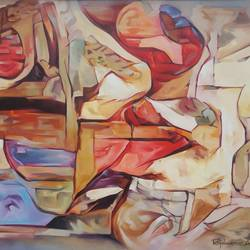 the key role for kissing and sexual intercourse is full satisfaction, 48 x 36 inch, roja lawrence,48x36inch,canvas,paintings,modern art paintings,paintings for bedroom,oil,GAL043822099