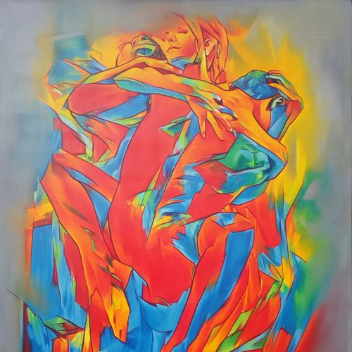 full hearted lust will reward a perfect, rewarding future, 36 x 48 inch, roja lawrence,36x48inch,canvas,paintings,abstract paintings,paintings for bedroom,oil,GAL043822100