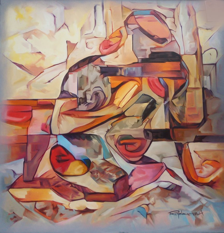 full hearted lust will reward a perfect, rewarding future, 36 x 36 inch, roja lawrence,36x36inch,canvas,paintings,modern art paintings,paintings for bedroom,oil,GAL043822101