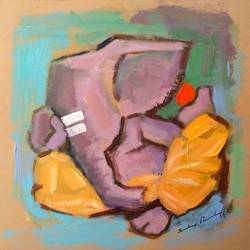 enlightened ganesha, 8 x 8 inch, sandeep rawal ,8x8inch,thick paper,paintings,abstract paintings,modern art paintings,ganesha paintings,contemporary paintings,paintings for dining room,paintings for living room,paintings for office,paintings for kids room,paintings for hotel,paintings for kitchen,paintings for school,paintings for hospital,acrylic color,GAL0251122106,vinayak,ekadanta,ganpati,lambodar,peace,devotion,religious,lord ganesha,lordganpati,ganpati,ganesha,lord ganesh,elephant god,religious,ganpati bappa morya,ladoo,sweets