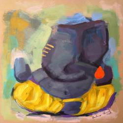 enlightened ganesha, 8 x 8 inch, sandeep rawal ,8x8inch,thick paper,paintings,abstract paintings,modern art paintings,ganesha paintings,contemporary paintings,paintings for dining room,paintings for living room,paintings for office,paintings for kids room,paintings for hotel,paintings for kitchen,paintings for school,paintings for hospital,acrylic color,GAL0251122109,vinayak,ekadanta,ganpati,lambodar,peace,devotion,religious,lord ganesha,lordganpati,ganpati,ganesha,lord ganesh,elephant god,religious,ganpati bappa morya,ladoo,sweets