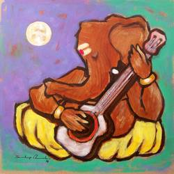 enlightened ganesha, 8 x 8 inch, sandeep rawal ,8x8inch,thick paper,paintings,abstract paintings,modern art paintings,ganesha paintings,contemporary paintings,paintings for dining room,paintings for living room,paintings for office,paintings for kids room,paintings for hotel,paintings for kitchen,paintings for school,paintings for hospital,acrylic color,GAL0251122111,vinayak,ekadanta,ganpati,lambodar,peace,devotion,religious,lord ganesha,lordganpati,ganpati bappa morya,ganesh chaturthi,ganesh murti,elephant god,religious,lord ganesh,ganesha,om,hindu god,shiv parvati, putra,bhakti,blessings,aashirwad,pooja,puja,aarti,ekdant,vakratunda,lambodara,bhalchandra,gajanan,vinayak,prathamesh,vignesh,heramba,siddhivinayak,mahaganpati,omkar,mushak,mouse,ladoo,modak,shlok