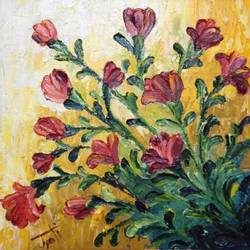 flowers, 10 x 10 inch, jyoti sharma,10x10inch,canvas,paintings,flower paintings,oil,GAL01196922127