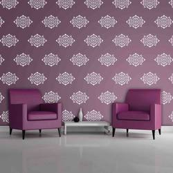 wall stencil: royal glossy wall stencil design for living room, 1 stencil (size 14x18 inches) | reusable | diy, 14 x 18 inch, wall stencil designs,14x18inch,ohp plastic sheets,flower designs,plastic,GAL0122132,GAL0122132