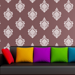 wall stencil:beautiful morden wall stencil design for living room, 1 stencil (size 14x18 inches) | reusable | diy, 14 x 18 inch, wall stencil designs,14x18inch,ohp plastic sheets,flower designs,plastic,GAL0122134,GAL0122134