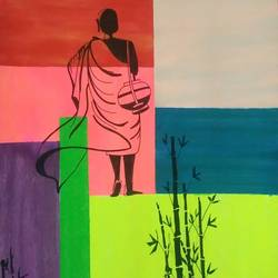 the path, 14 x 22 inch, ramya arumugam,14x22inch,thick paper,paintings,pen color,poster color,ball point pen,GAL01066122138