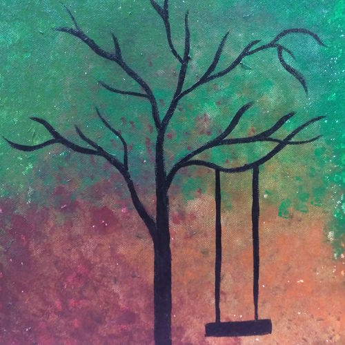 autumn tree, 10 x 12 inch, megha dutta,10x12inch,canvas board,paintings,nature paintings,paintings for office,acrylic colorNature,environment,Beauty,scenery,greenery