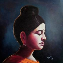 in search of buddha  2, 18 x 18 inch, manju prajapati,18x18inch,canvas,paintings,buddha paintings,paintings for dining room,paintings for living room,paintings for bedroom,paintings for office,paintings for kids room,paintings for hotel,paintings for kitchen,paintings for school,paintings for hospital,acrylic color,GAL01187222185