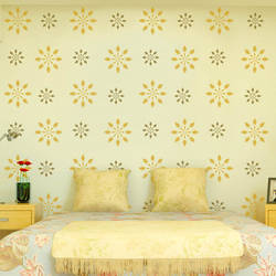 Wall Stencil: Royal Flower wall stencil design for living room, 1 Stencil (Size 12x12 inches) | Reusable | DIY,GAL0122220,GAL0122220