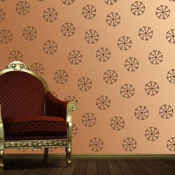 Wall Stencil: Exclusive Trendy Design Wall Stencil , 1 Stencil (Size 12x12 inches) | Reusable | DIY,GAL0122224,GAL0122224