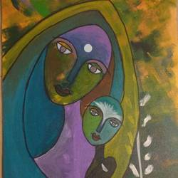 mother god, 30 x 40 inch, jasmeen shekh,30x40inch,canvas,paintings,modern art paintings,paintings for dining room,paintings for living room,paintings for office,paintings for bathroom,paintings for kids room,paintings for hotel,paintings for school,paintings for hospital,acrylic color,GAL095322235