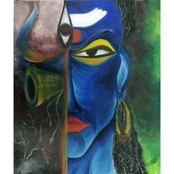 shiva, 20 x 24 inch, samragnee  dutta,20x24inch,canvas,paintings,figurative paintings,religious paintings,oil,GAL0351222245