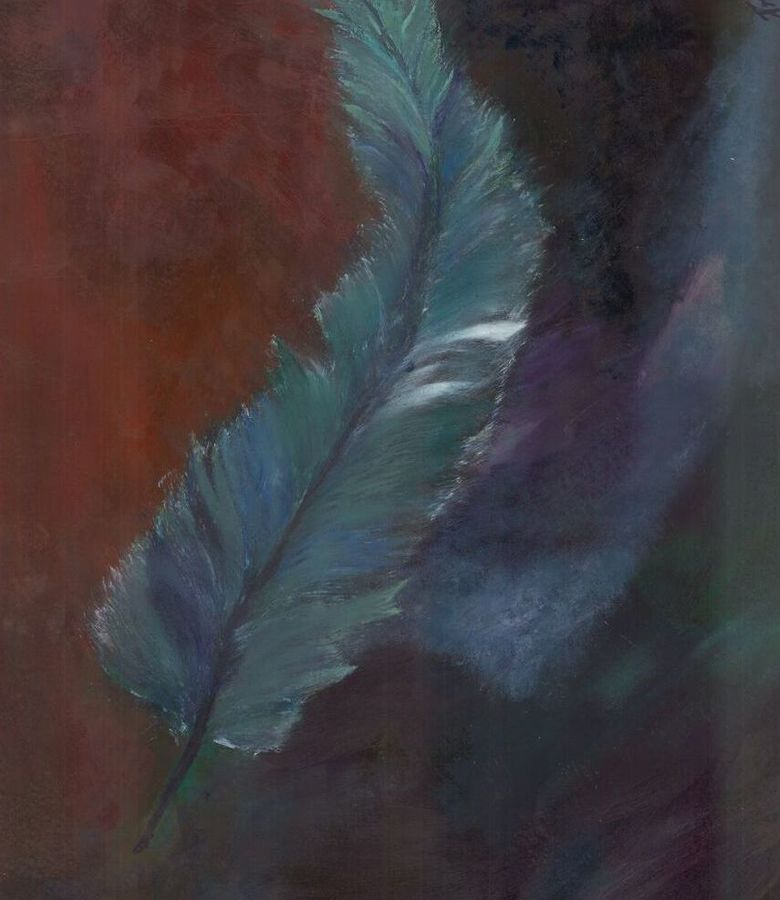 feather in the middle of jungle, 25 x 30 inch, preeti lall,abstract paintings,paintings for bedroom,ivory sheet,acrylic color,25x30inch,GAL08632227