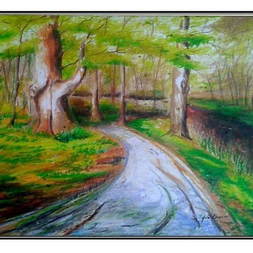 landscape  , 18 x 24 inch, arpita biswas dasgupta,18x24inch,ivory sheet,paintings,landscape paintings,paintings for dining room,paintings for living room,paintings for bedroom,paintings for office,paintings for kids room,paintings for hotel,paintings for kitchen,pastel color,GAL01013622287
