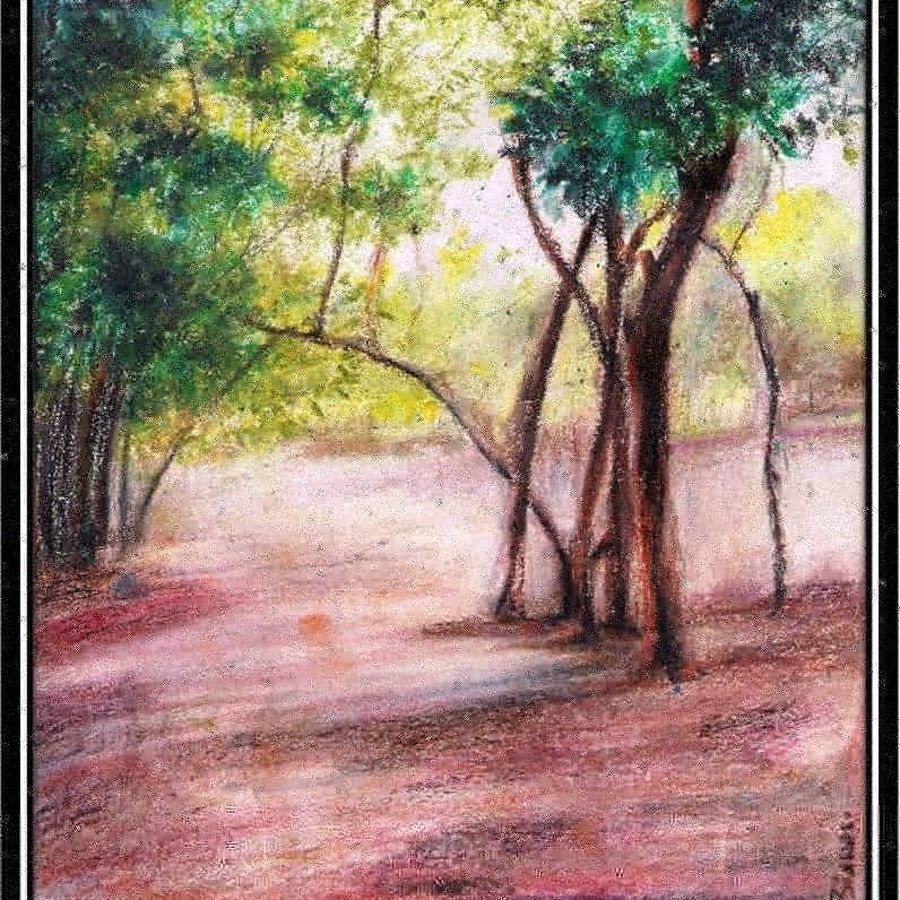 landscape , 18 x 24 inch, arpita biswas dasgupta,18x24inch,paper,paintings,landscape paintings,paintings for dining room,paintings for bedroom,pastel color,GAL01013622288