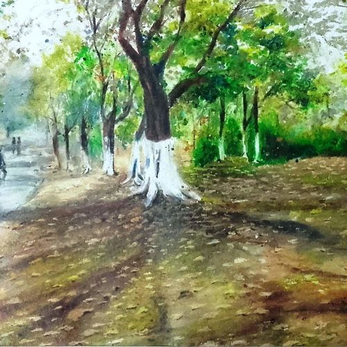 landscape  , 18 x 24 inch, arpita biswas dasgupta,18x24inch,fabriano sheet,paintings,cityscape paintings,paintings for dining room,paintings for living room,paintings for bedroom,paintings for office,paintings for kids room,pastel color,GAL01013622289