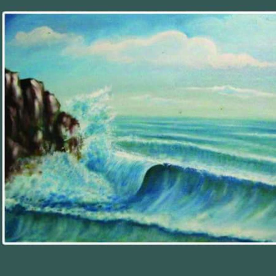 sea view, 24 x 18 inch, santanu dash,nature paintings,paintings for living room,landscape paintings,paintings for office,canvas,acrylic color,24x18inch,GAL08622229Nature,environment,Beauty,scenery,greenery