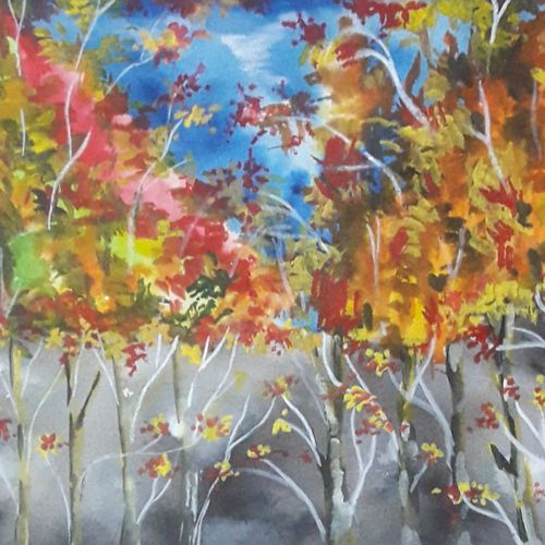 autumn swing, 12 x 8 inch, subrata chakraborty,12x8inch,handmade paper,paintings,landscape paintings,nature paintings,paintings for dining room,paintings for living room,paintings for bedroom,paintings for office,paintings for hotel,paintings for dining room,paintings for living room,paintings for bedroom,paintings for office,paintings for hotel,acrylic color,GAL01168522302Nature,environment,Beauty,scenery,greenery