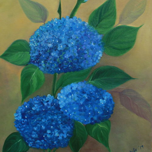 blue bloom, 16 x 20 inch, nikita hemchand,16x20inch,canvas,paintings,flower paintings,nature paintings,paintings for living room,paintings for bedroom,paintings for office,paintings for hotel,paintings for school,paintings for hospital,paintings for living room,paintings for bedroom,paintings for office,paintings for hotel,paintings for school,paintings for hospital,oilNature,environment,Beauty,scenery,greenery