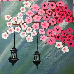 flower painting, 8 x 8 inch, swati verma,8x8inch,canvas,paintings,flower paintings,paintings for office,acrylic color,GAL01124322319