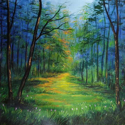beauty of nature, 26 x 24 inch, dipu jose,26x24inch,canvas,paintings,flower paintings,landscape paintings,nature paintings,paintings for dining room,paintings for living room,paintings for bedroom,paintings for office,paintings for hotel,paintings for hospital,acrylic color,GAL0727222324Nature,environment,Beauty,scenery,greenery