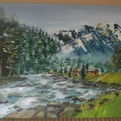 welcome to my world..., 22 x 15 inch, anurupa  chatterjee,22x15inch,canvas board,paintings,landscape paintings,paintings for living room,paintings for bedroom,paintings for office,paintings for hotel,paintings for living room,paintings for bedroom,paintings for office,paintings for hotel,oil,GAL01226022331