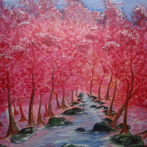 landscape, 18 x 16 inch, remesan  pallichath,18x16inch,canvas board,paintings,landscape paintings,acrylic color,GAL01217722338