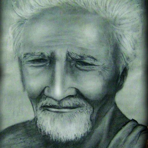 village oldman, 24 x 18 inch, santanu dash,portrait drawings,paintings for living room,thick paper,pencil color,24x18inch,GAL08622234