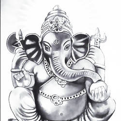 lord ganesha, 11 x 17 inch, shivkumar  menon,11x17inch,drawing paper,drawings,paintings for living room,paintings for office,paintings for hospital,art deco drawings,fine art drawings,portrait drawings,paintings for living room,paintings for office,paintings for hospital,graphite pencil,GAL098622362