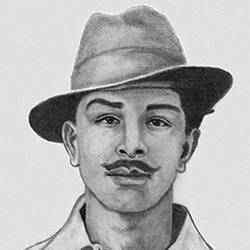 indian nationalist saheed bhagat singh, 8 x 11 inch, shivkumar  menon,8x11inch,drawing paper,drawings,art deco drawings,fine art drawings,portrait drawings,paintings for living room,graphite pencil,GAL098622386