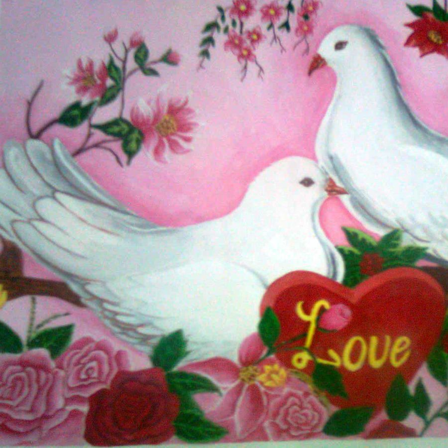 love birds, 12 x 17 inch, shweta goyal,nature paintings,paintings for bedroom,love paintings,thick paper,poster color,12x17inch,GAL08452239heart,family,caring,happiness,forever,happy,trust,passion,romance,sweet,kiss,love,hugs,warm,fun,kisses,joy,friendship,marriage,chocolate,husband,wife,forever,caring,couple,sweetheartNature,environment,Beauty,scenery,greenery,pigeon,love,together,rose,leaves