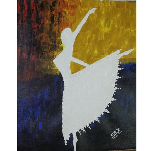 dancing girl in 3d colours, 20 x 16 inch, subir jha,20x16inch,canvas,paintings,abstract paintings,figurative paintings,modern art paintings,paintings for dining room,paintings for living room,paintings for bedroom,paintings for office,paintings for hotel,paintings for school,paintings for hospital,acrylic color,GAL01191622392